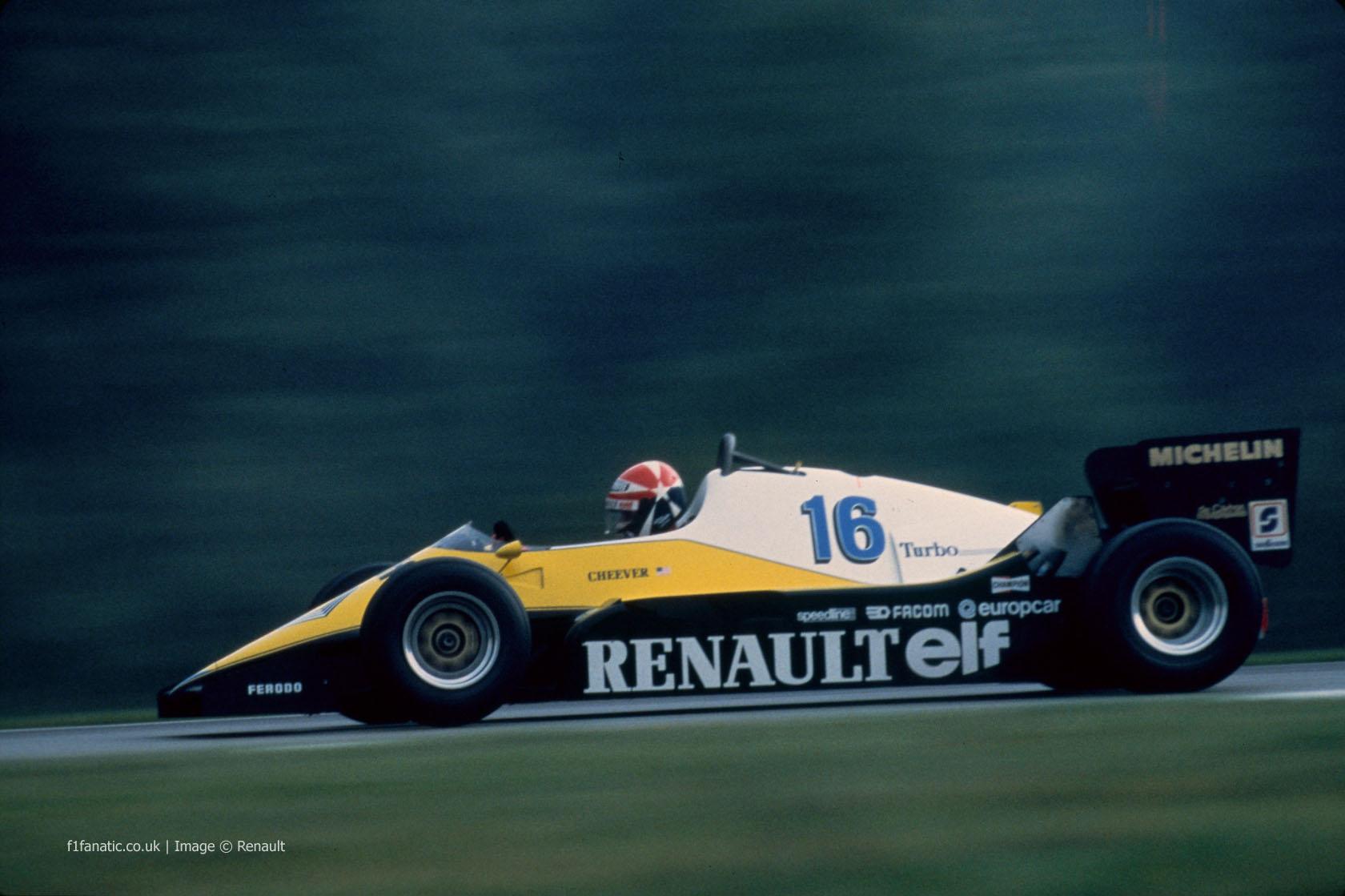 Eddie Cheever, Renault, 1983