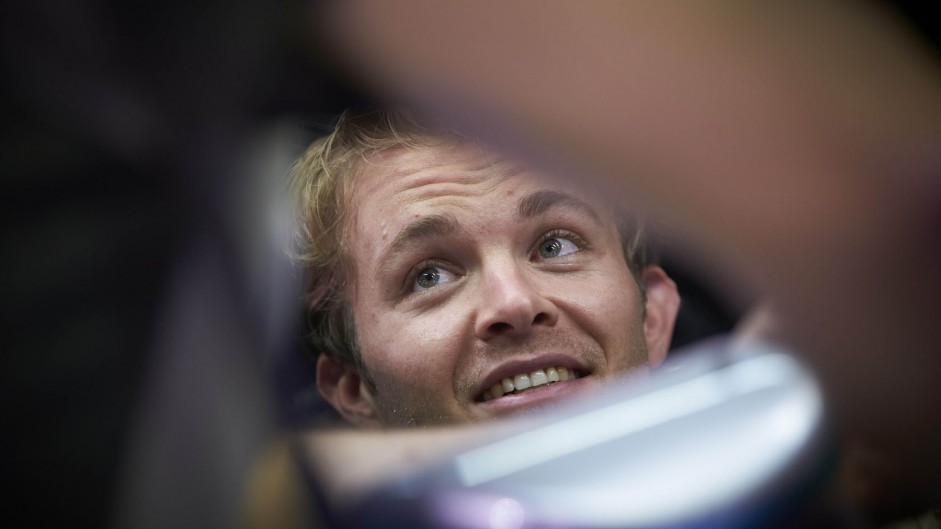 Rosberg quickest as engine failure halts Verstappen