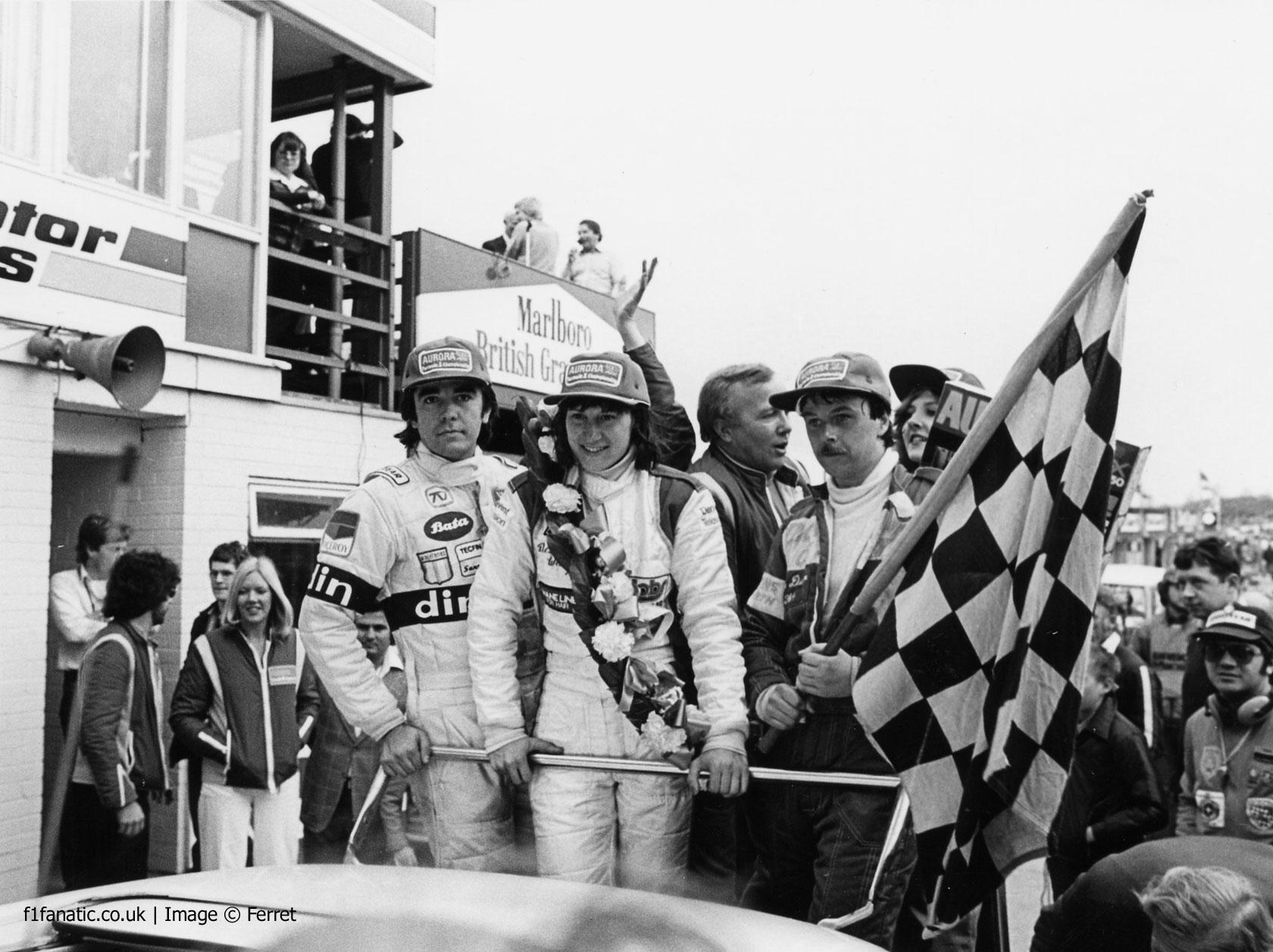Eliseo Salazar, Desire Wilson, Norman Dickson, Brands Hatch, Aurora AFX British F1 series, 1980