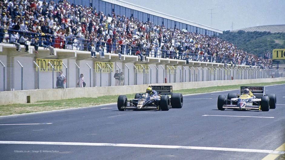 Ayrton Senna, Nigel Mansell, Jerez, 1986