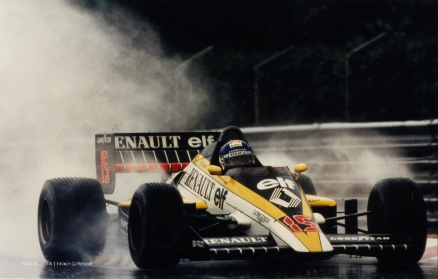 Patrick Tambay, Renault, Estoril, 1985
