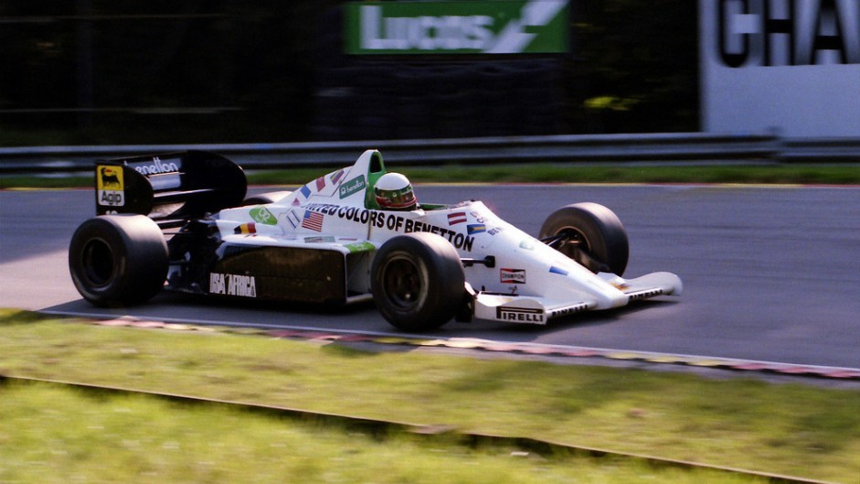 Teo Fabi, Toleman, Brands Hatch, 1985