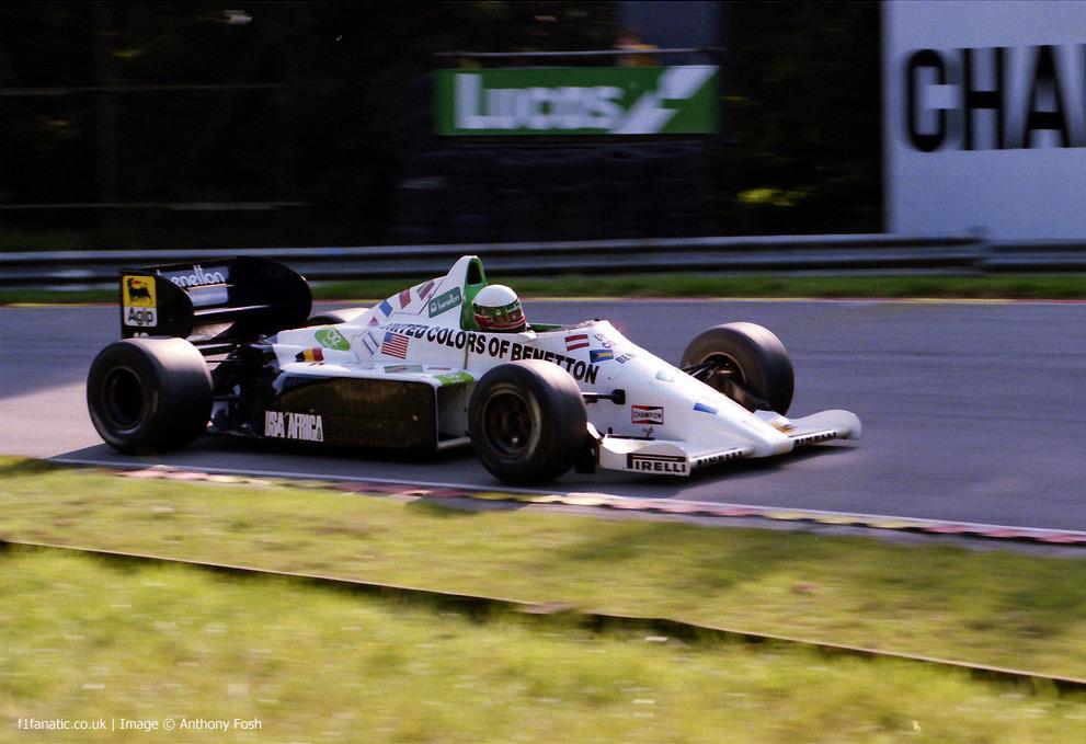 Teo Fabi, Toleman, Brands Hatch, 1985