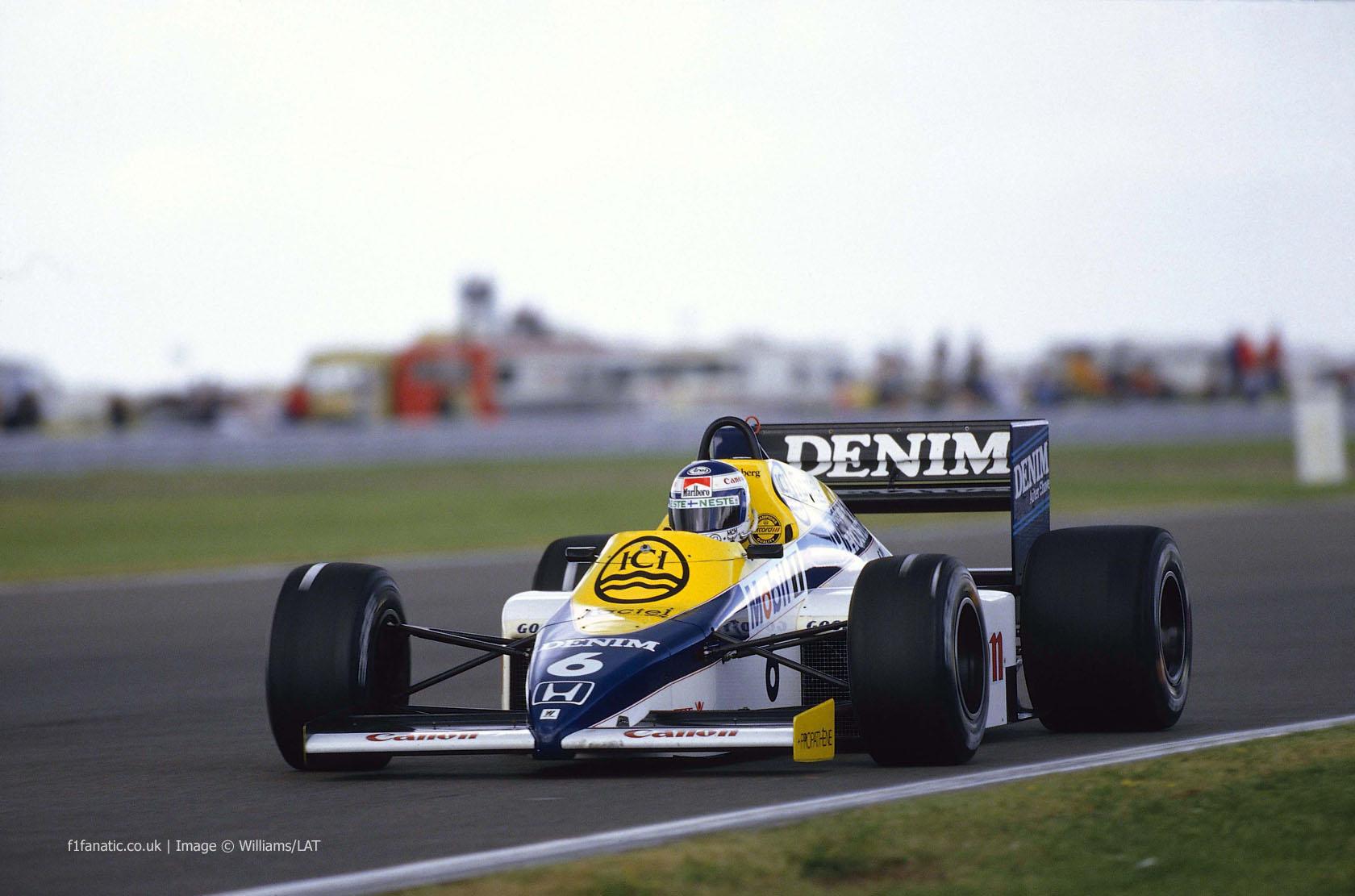 Keke Rosberg, Williams, Silverstone, 1985