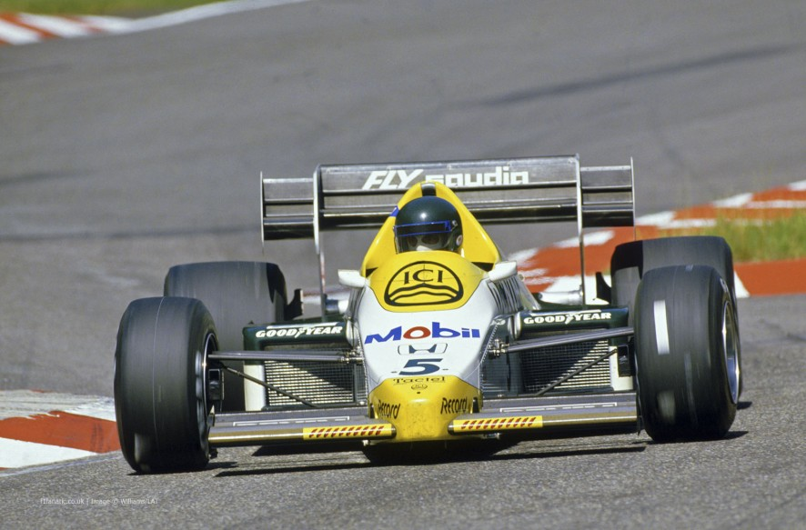 Jacques Laffite, Williams, Hockenheimring, 1984
