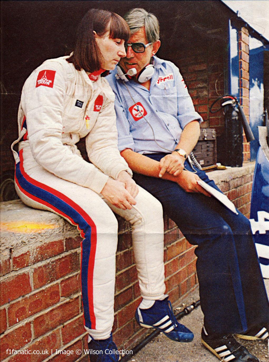 Desire Wilson, Ken Tyrrell, Kyalami, 1981
