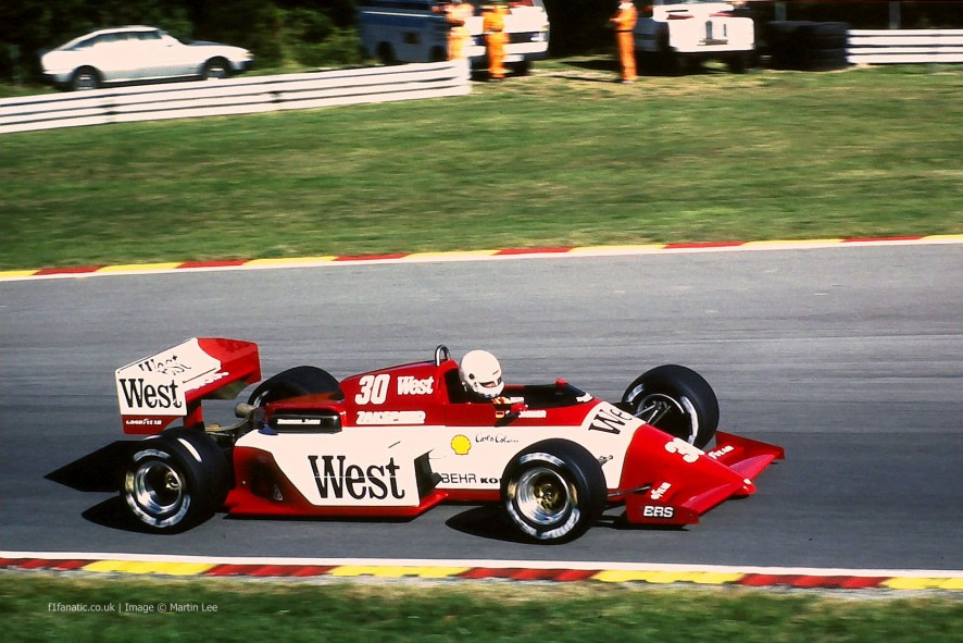 Christian Danner, Zakspeed, Brands Hatch, 1985