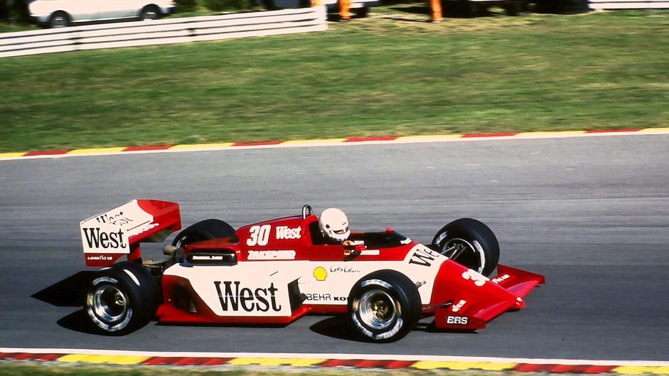 Christian Danner, Zakspeed, Brands Hatch, 1985