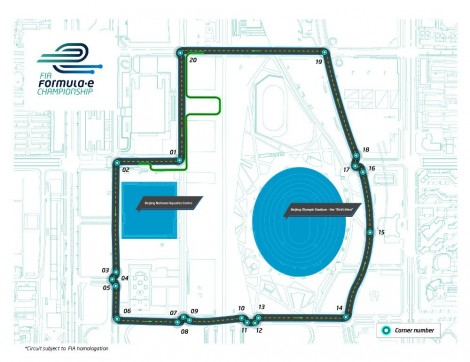Formula E Beijing Grand Prix circuit