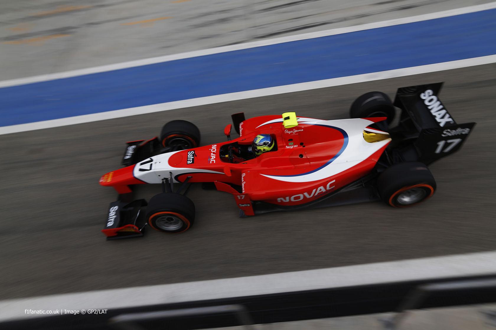 Andre Negrao, Arden, GP2, Bahrain, 2014