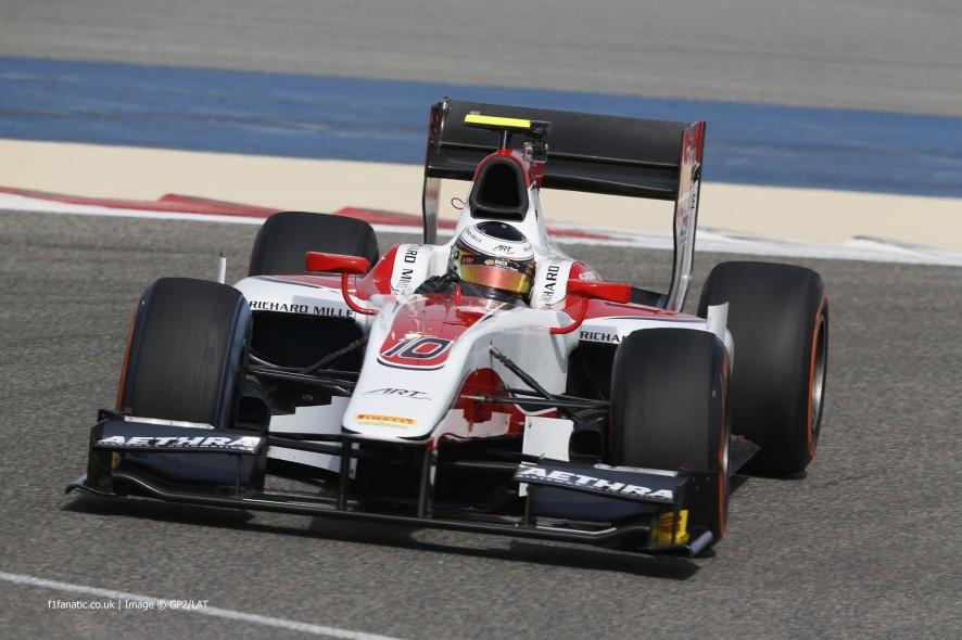 Stoffel Vandoorne, ART, GP2, Bahrain, 2014