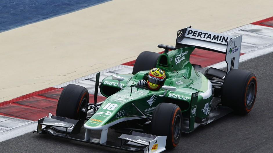 Rio Haryanto, Caterham, GP2, Bahrain, 2014