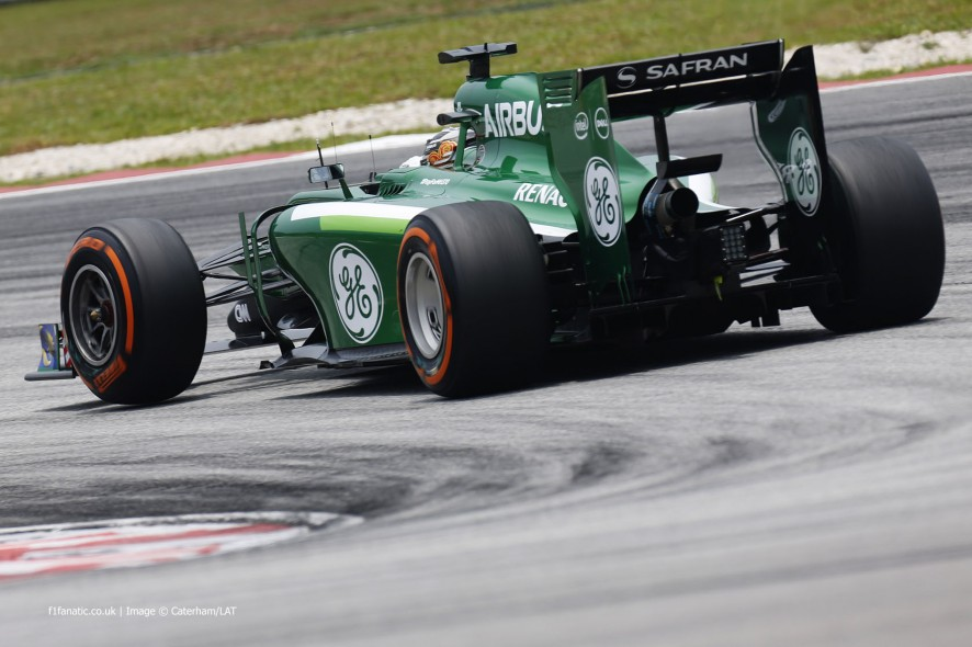 Kamui Kobayashi, Caterham, Sepang International Circuit, 2014