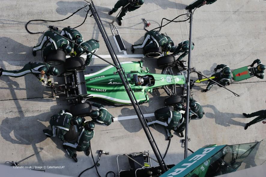 Kamui Kobayashi, Caterham, Sepang International Circuit, 2014