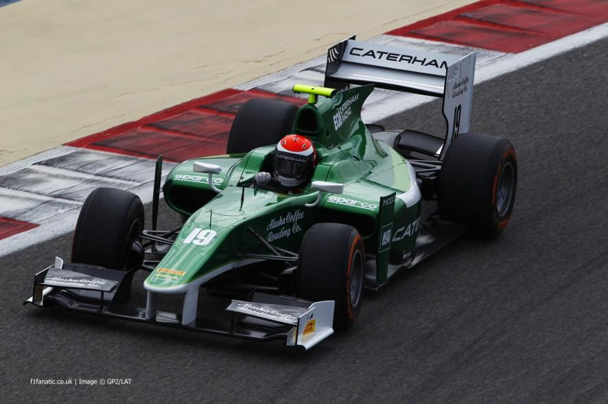 Alexander Rossi, Caterham, GP2, Bahrain, 2014