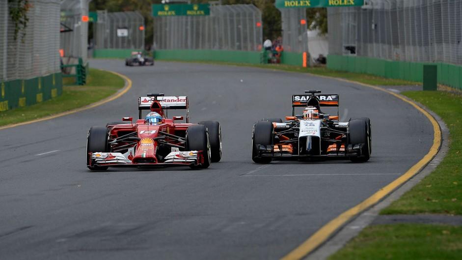 Fernando Alonso, Nico Hulkenberg, Albert Park, 2014