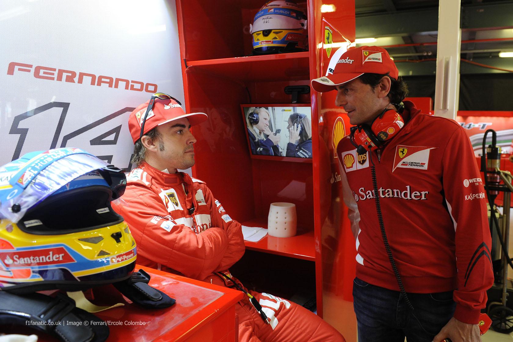 Fernando Alonso, Pedro de la Rosa, Ferrari, Albert Park, 2014