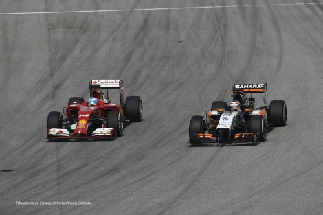 Fernando Alonso, Nico Hulkenberg, Sepang International Circuit, 2014