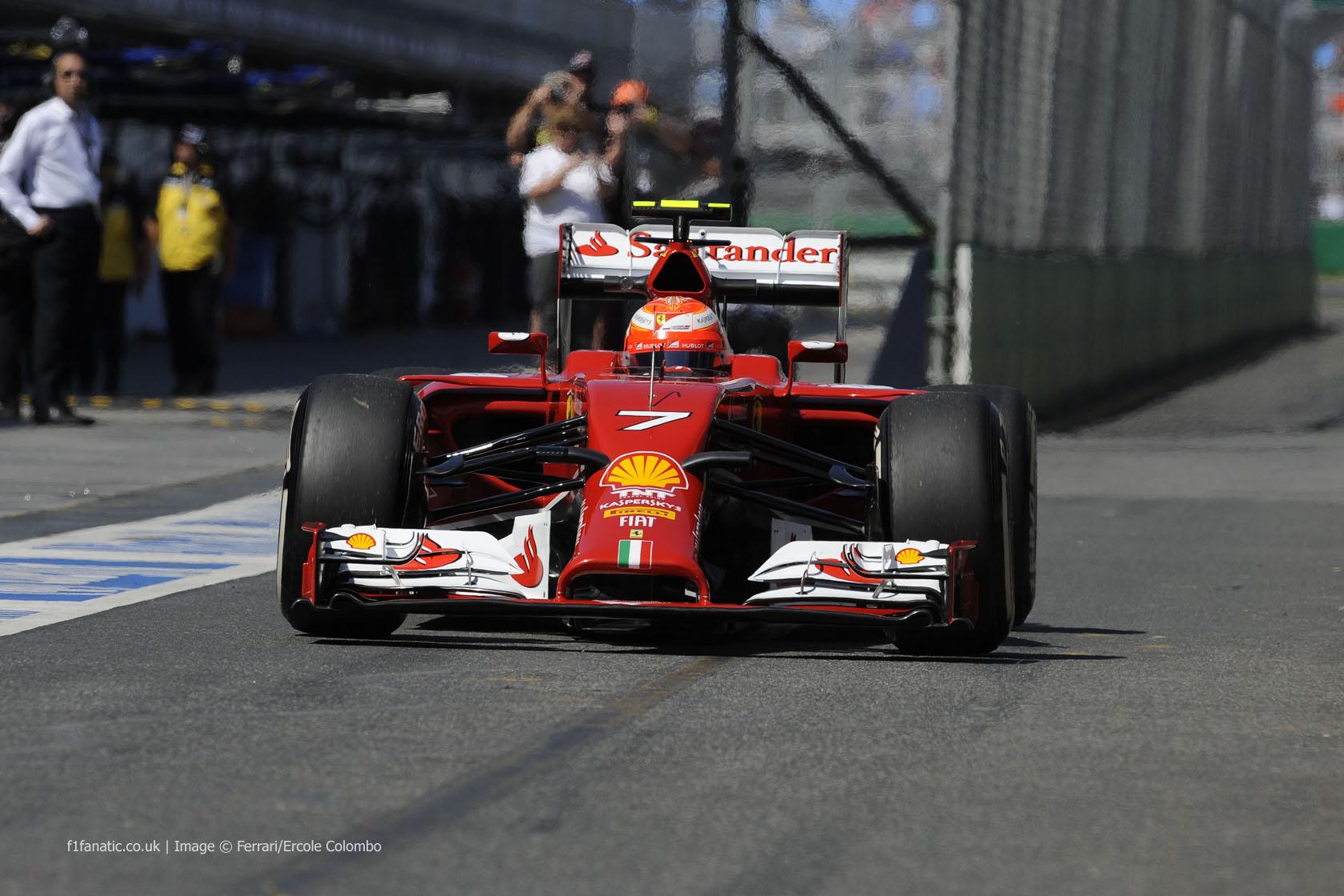 Kimi Raikkonen, Ferrari, Albert Park, 2014