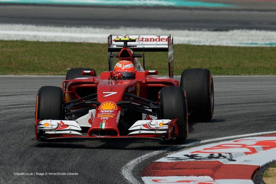 Kimi Raikkonen, Ferrari, Sepang International Circuit, 2014