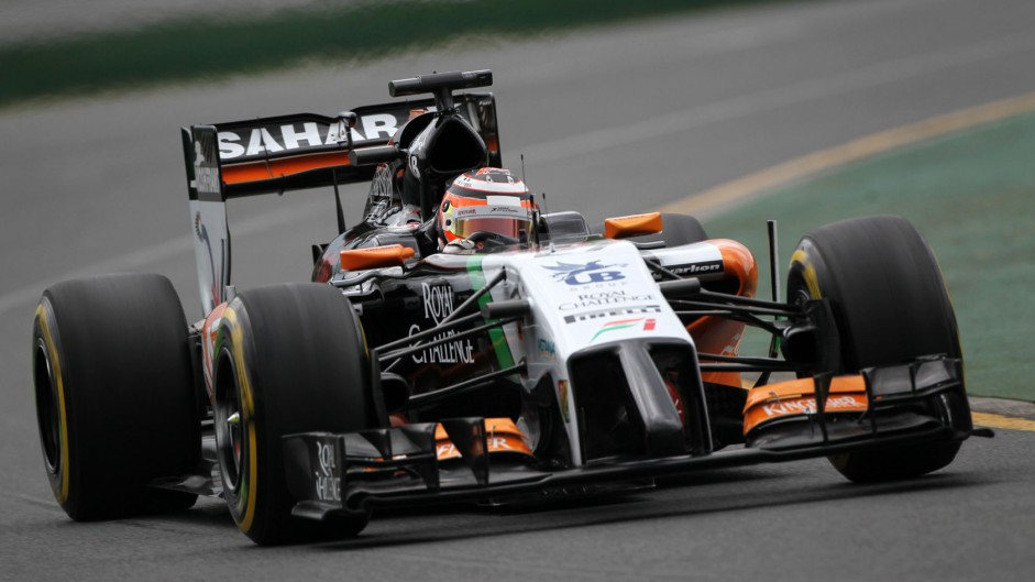 Nico Hulkenberg, Force India, Albert Park, 2014