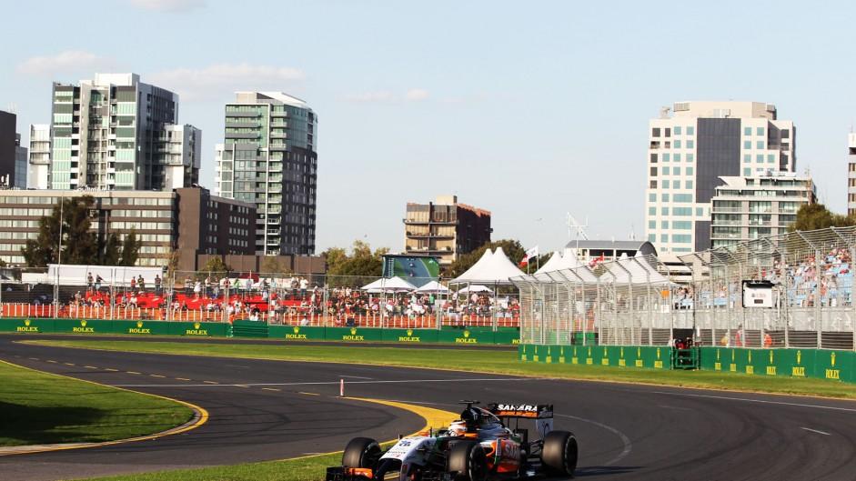 Nico Hulkenberg, Force India, Albert Park, 2014