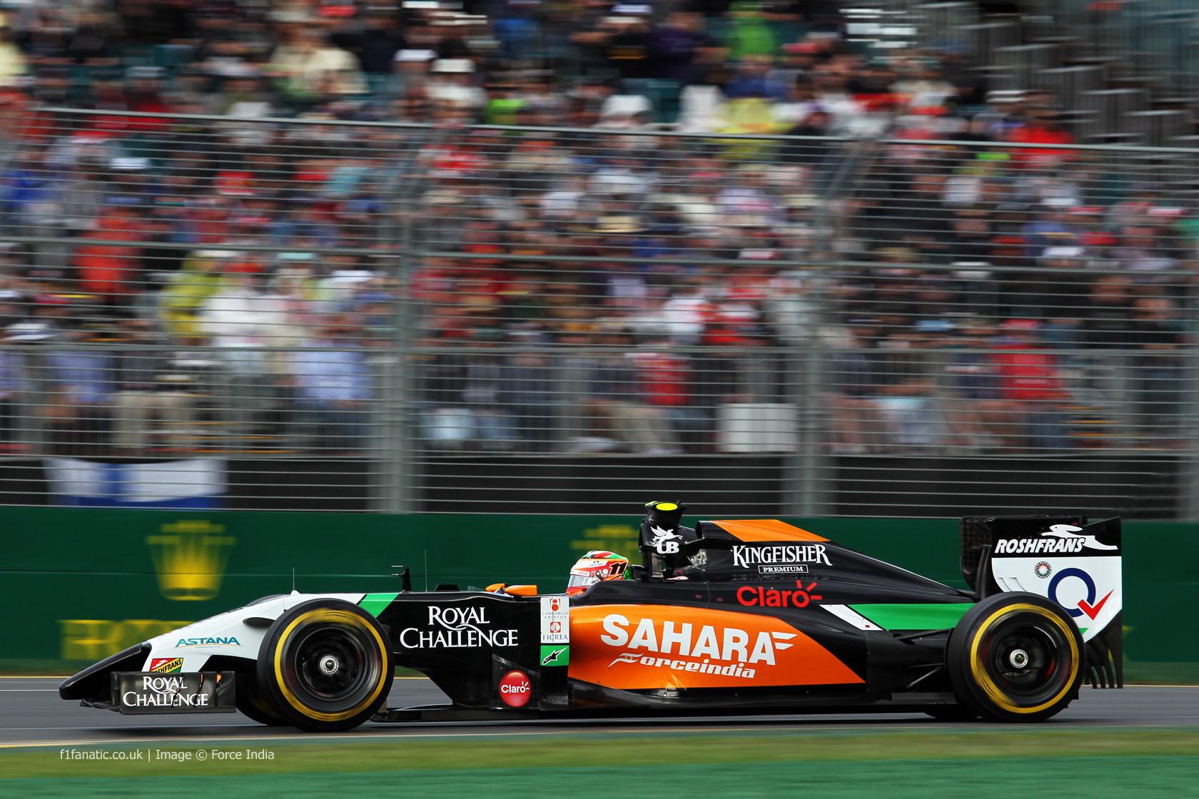 Sergio Perez, Force India, Albert Park, 2014