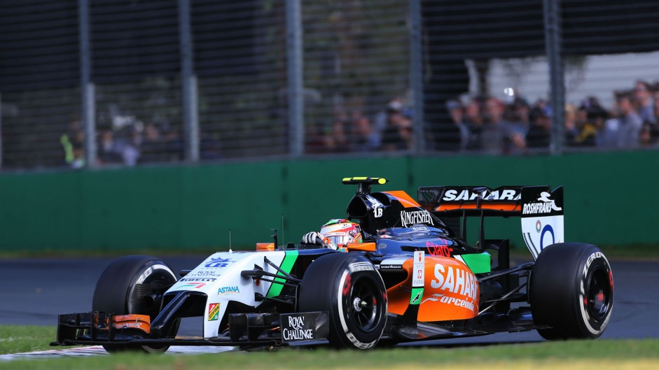 Sergio Perez, Force India, Albert Park, 2014