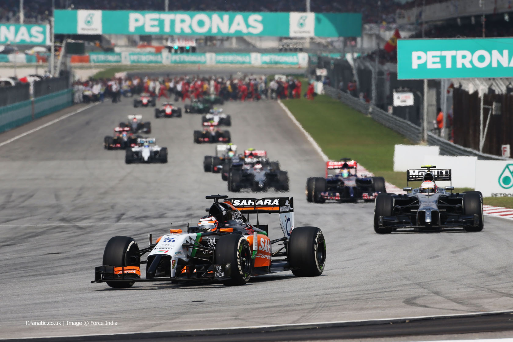 Formation lap, Sepang International Circuit, 2014