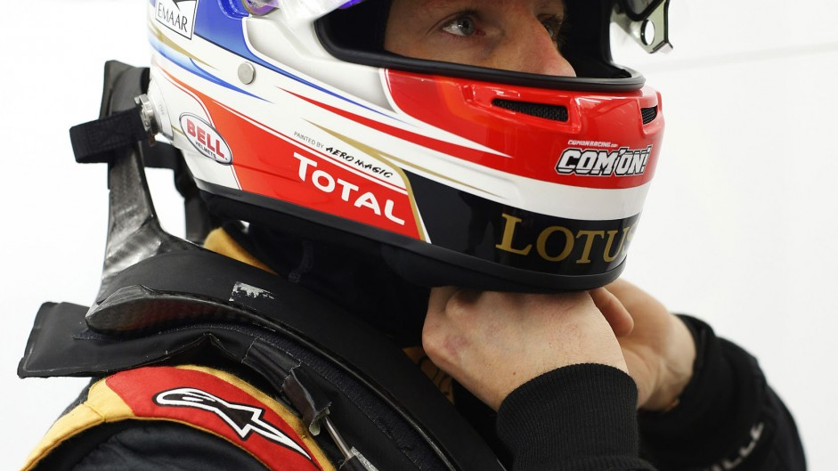 Romain Grosjean, Lotus, Bahrain, 2014