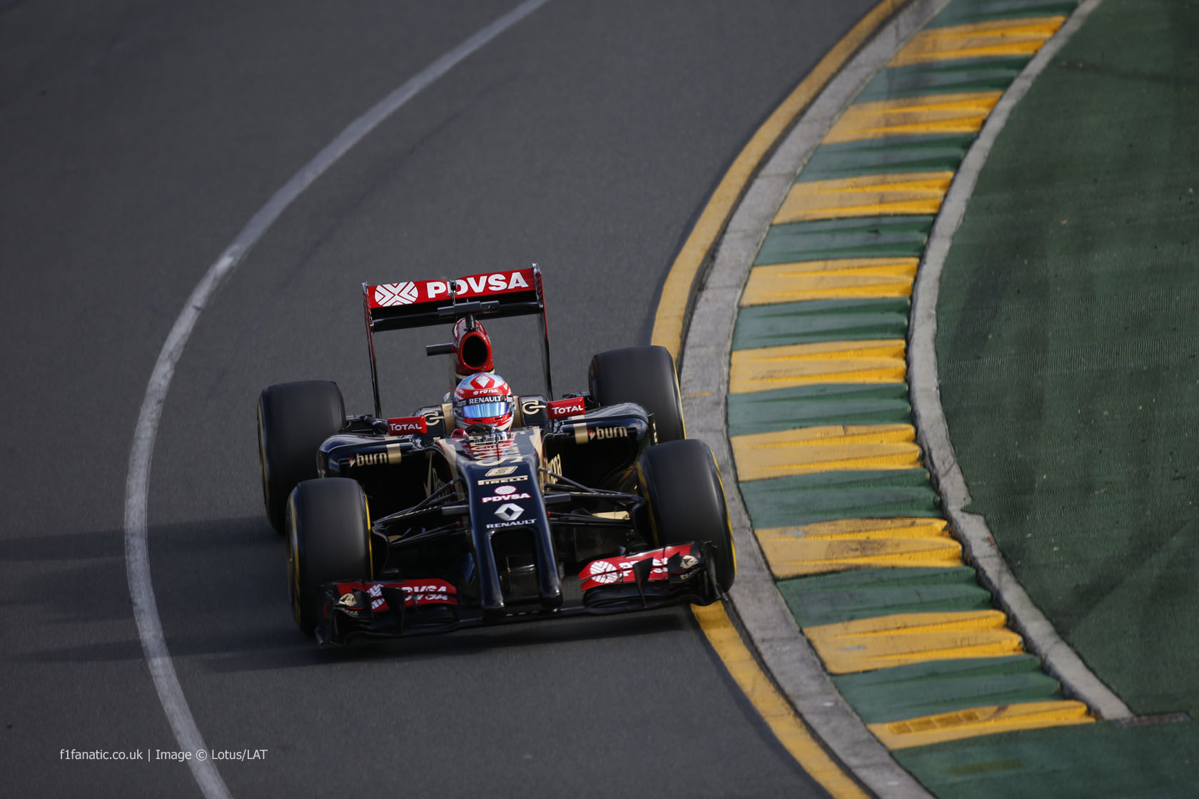 Romain Grosjean, Lotus, Albert Park, 2014