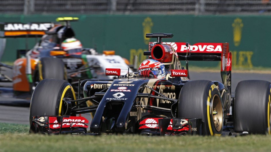 Romain Grosjean, Lotus, Albert Park, 2014