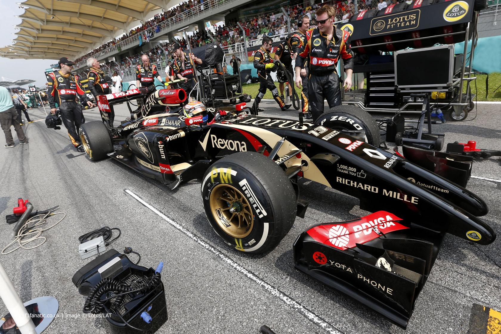 Pastor Maldonado, Lotus, Sepang International Circuit, 2014