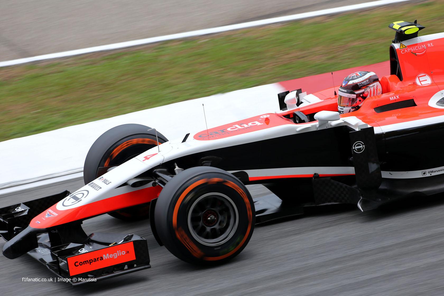 Max Chilton, Marussia, Sepang International Circuit, 2014