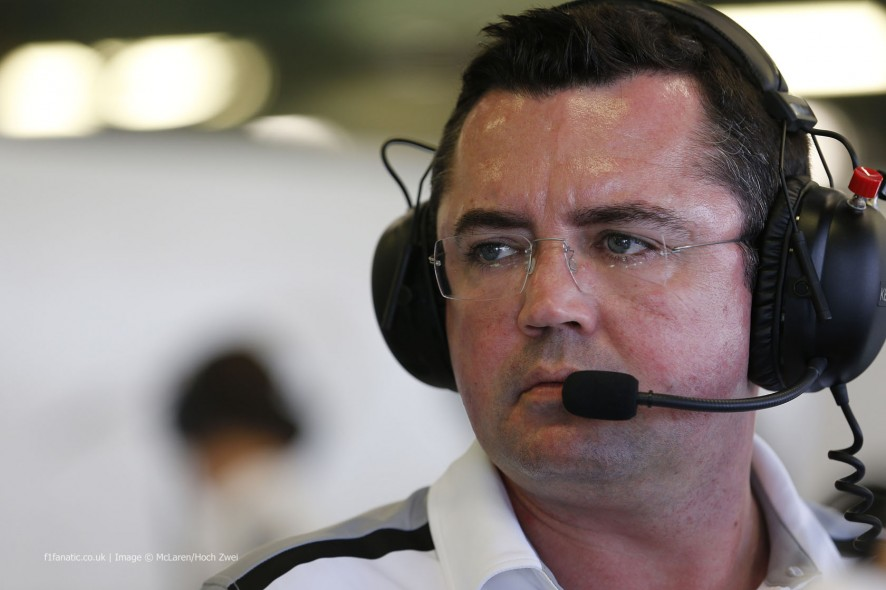 Eric Boullier, McLaren, Albert Park, 2014