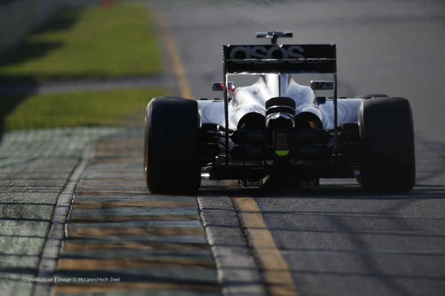 Jenson Button, McLaren, Albert Park, 2014