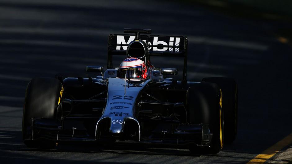 Jenson Button, McLaren, Albert Park, 2014