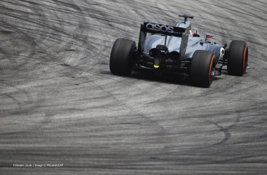 Jenson Button, McLaren, Sepang International Circuit, 2014