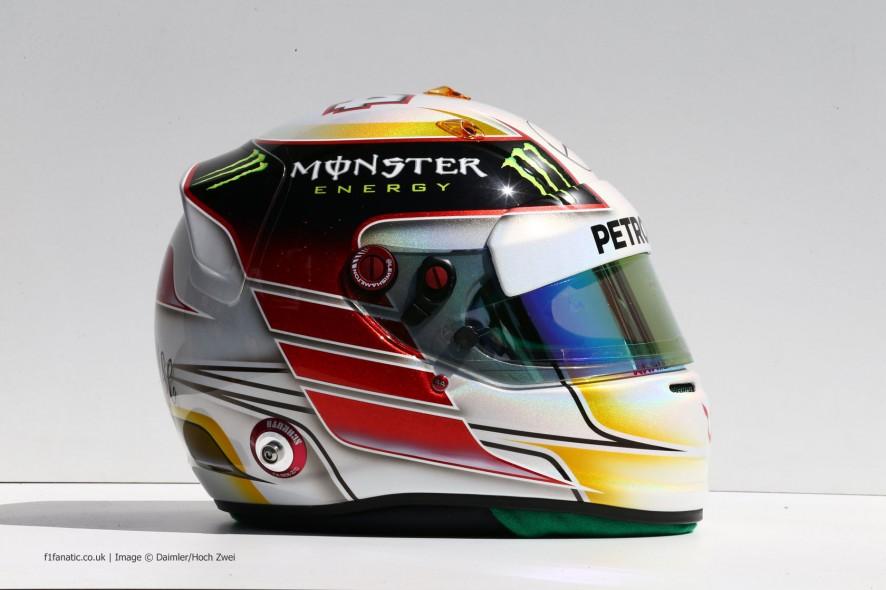 Lewis Hamilton helmet, Mercedes, 2014