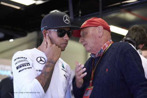 Lewis Hamilton, Niki Lauda, Mercedes, Albert Park, 2014