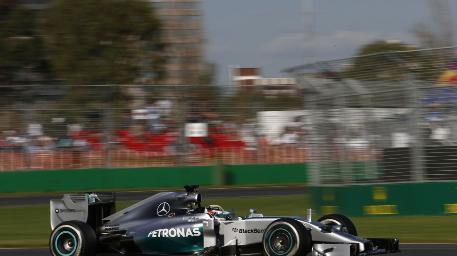 How much slower were the 2014 cars in Australia?