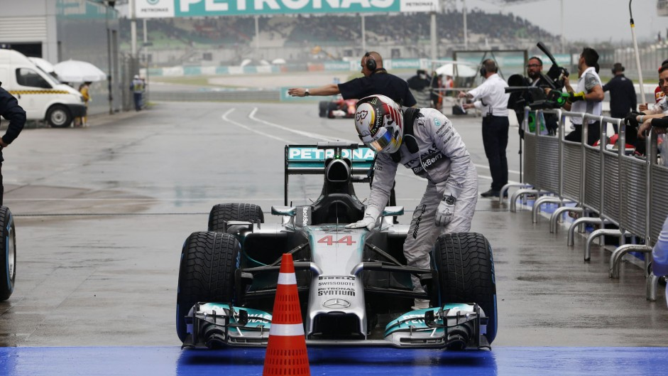 Hamilton aborted final flying lap due to visibility