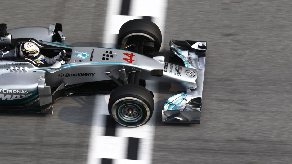 Hamilton leads historic one-two for Mercedes