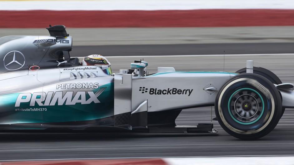 Hamilton heads dominant Mercedes 1-2 in Malaysia