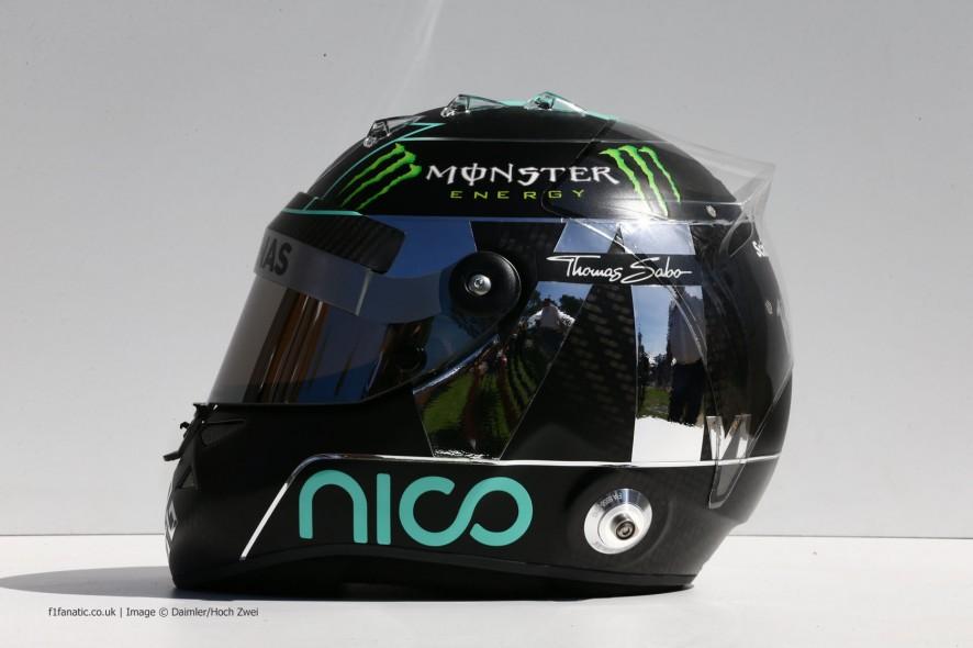Nico Rosberg helmet, Mercedes, 2014