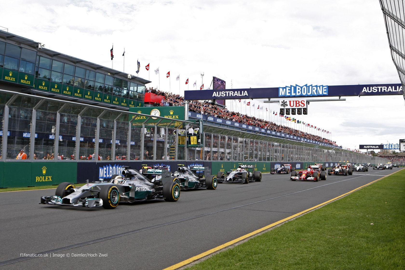 2014 Australian Grand Prix start, Albert Park, Melbourne