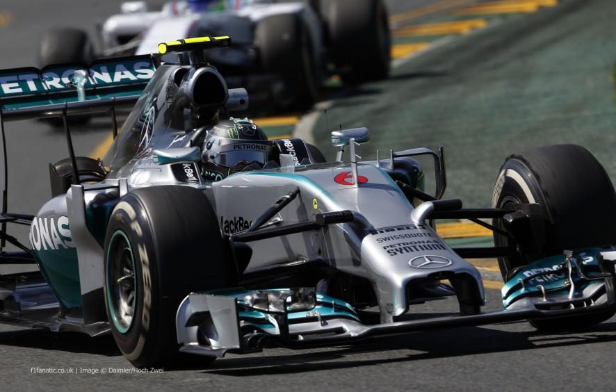Nico Rosberg, Mercedes, Albert Park, 2014