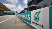 Pit wall, Sepang International Circuit, 2014