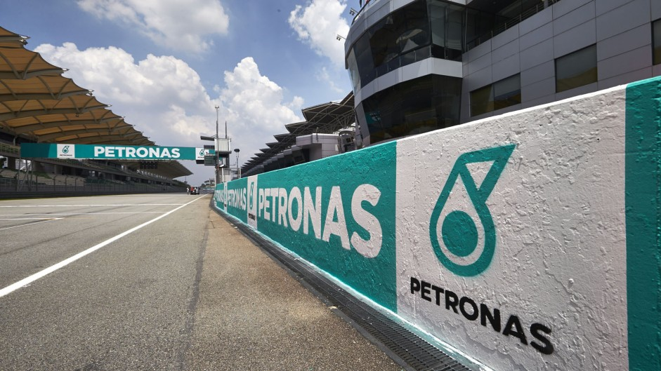 Pit wall, Sepang International Circuit, 2014