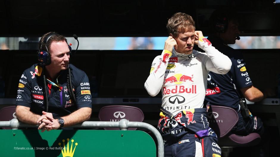 Christian Horner, Sebastian Vettel, Red Bull, Albert Park, 2014